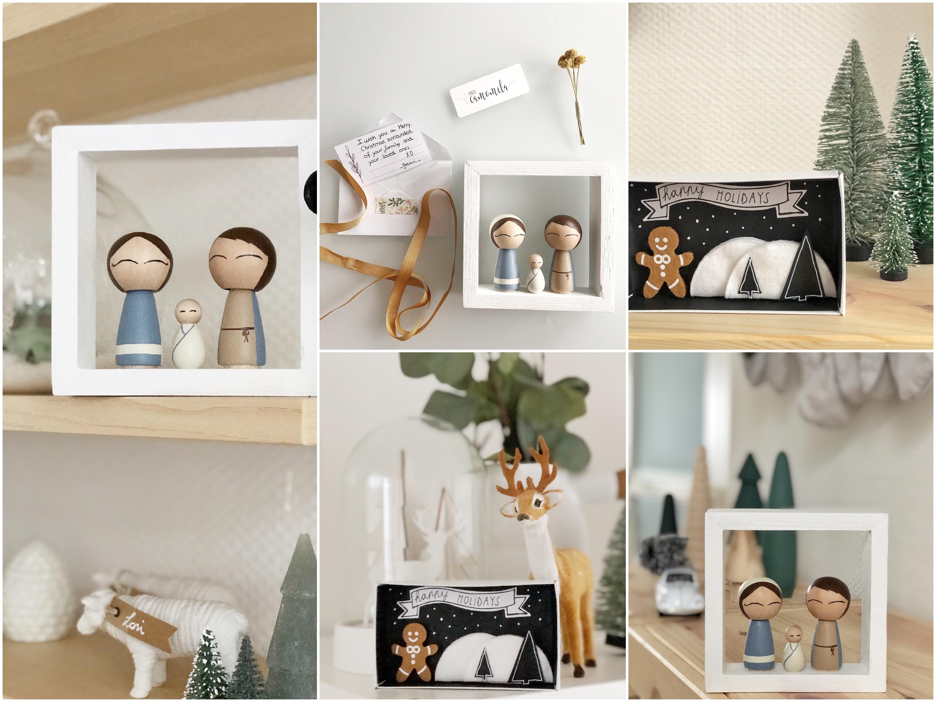 kerstmis, christmas, interieur, pegdolls, kerststal, nativity scene, DIY matchbox, christmas matchbox