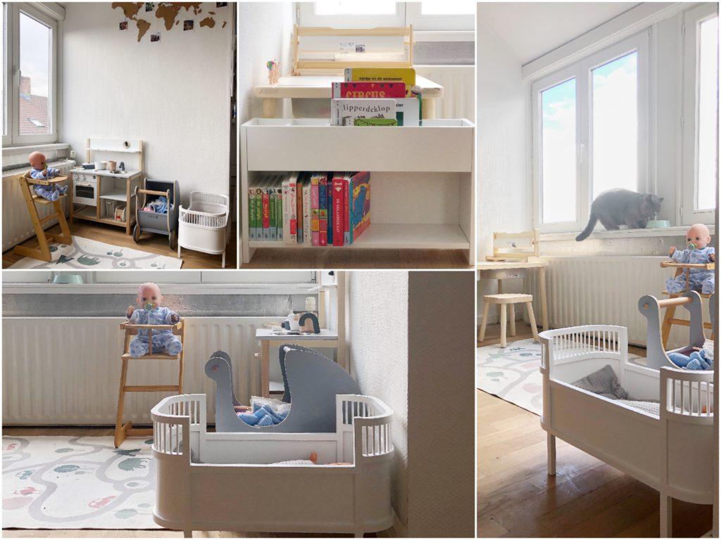 creatief wonen op een appartement, speelhoek, peuter, spelen