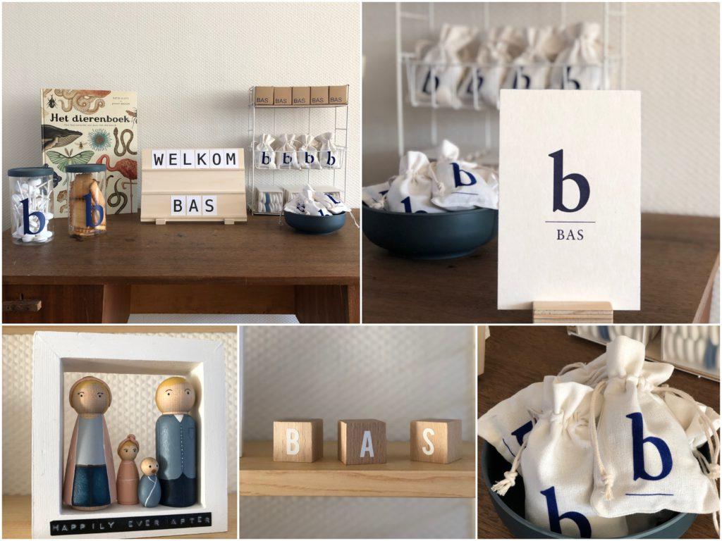 Bas Desmet, doopsuikers, minimal doopsuikers, pegdolls personalised, birth cookies,
